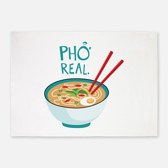 Pho Real. 5'x7'Area Rug