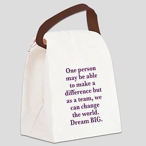 Team World Change Canvas Lunch Bag