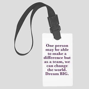 Team World Change Luggage Tag
