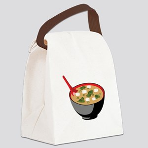 Miso Soup Bowl Canvas Lunch Bag