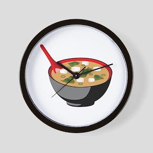Miso Soup Bowl Wall Clock