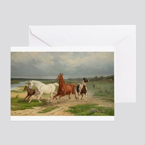 Wild Horses on the Run Greeting Cards