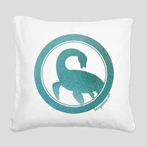 Nessie - Loch Ness Monster Square Canvas Pillow