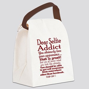 Selfie Addict Canvas Lunch Bag