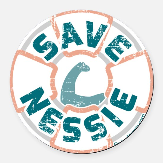 Save Nessie Round Car Magnet