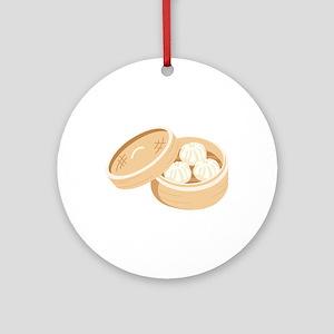 Asian Dumplings Ornament (Round)