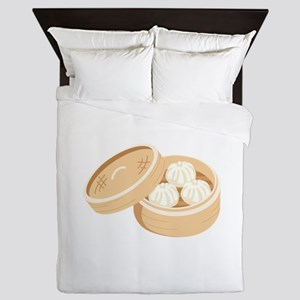 Asian Dumplings Queen Duvet