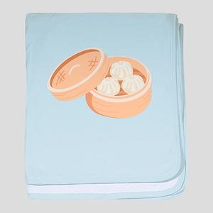 Asian Dumplings baby blanket
