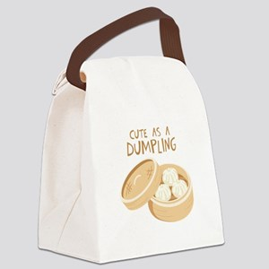 CUTE AS A DUMPLING Canvas Lunch Bag