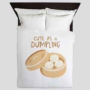 CUTE AS A DUMPLING Queen Duvet