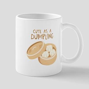 CUTE AS A DUMPLING Mugs