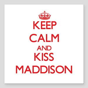 "Keep Calm and Kiss Maddison Square Car Magnet 3"" x"