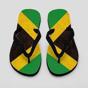Vintage Jamaican Flag  Flip Flops