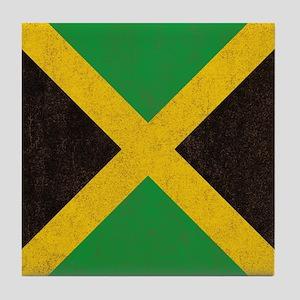 Vintage Jamaican Flag  Tile Coaster