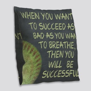 Want To Succeed Fastpitch Soft Burlap Throw Pillow