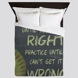 Practice Fastpitch Softball Motivation Queen Duvet
