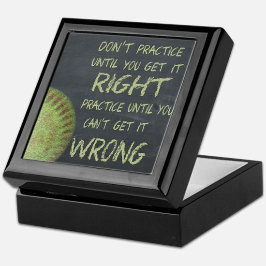 Practice Fastpitch Softball Motivatio Keepsake Box