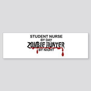 Zombie Hunter - Student Nurse Sticker (Bumper)