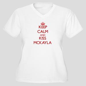 Keep Calm and Kiss Mckayla Plus Size T-Shirt