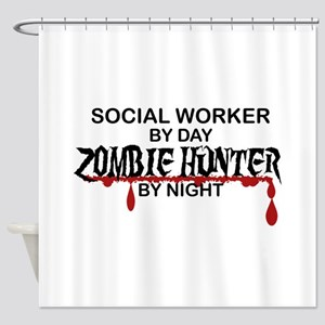 Zombie Hunter - Social Worker Shower Curtain