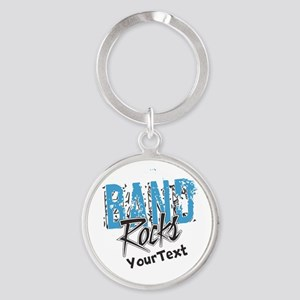 BAND Optional Text Round Keychain