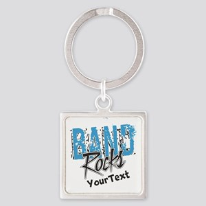 BAND Optional Text Square Keychain