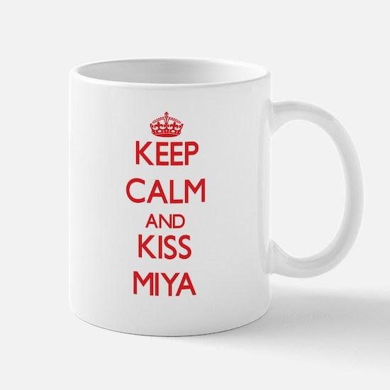 Keep Calm and Kiss Miya Mugs