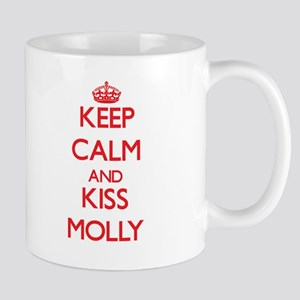 Keep Calm and Kiss Molly Mugs