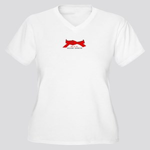 Hapkido Rank Belt Women's Plus Size V-Neck T-Shirt