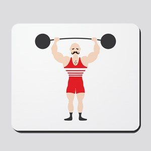 Circus Weightlifter Strong Man Mousepad