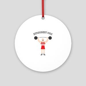 STRONGEST MAN Ornament (Round)