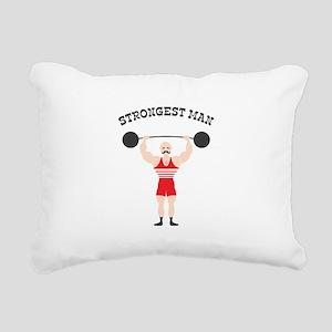 STRONGEST MAN Rectangular Canvas Pillow