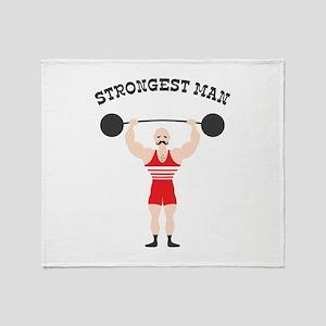 STRONGEST MAN Throw Blanket