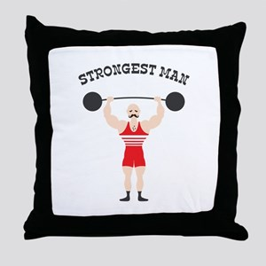 STRONGEST MAN Throw Pillow