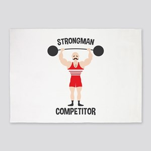 STRONGMAN COMPETITOR 5'x7'Area Rug