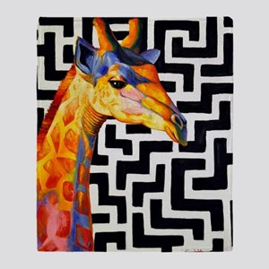 Contemporary Giraffe Throw Blanket