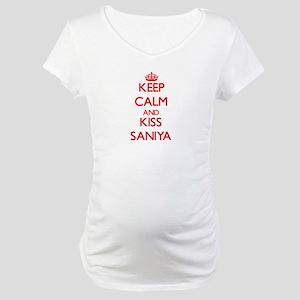 Keep Calm and Kiss Saniya Maternity T-Shirt