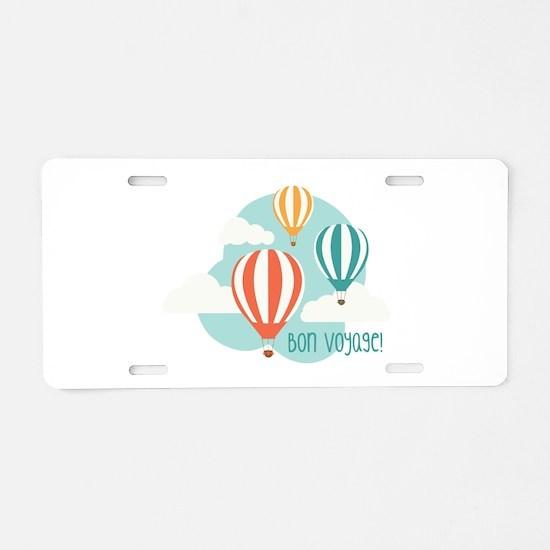 Bon Voyage Aluminum License Plate
