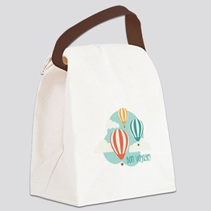 Bon Voyage Canvas Lunch Bag