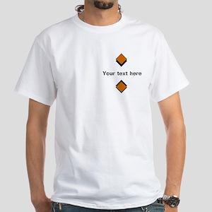 Personalizable Orange Logo White Whi White T-Shirt