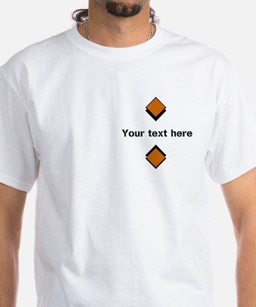 Personalizable Orange Logo White Whi White T-Shirt
