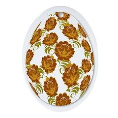 Flower Easter Egg 21B - Ornament (Oval)