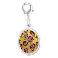 Flower Easter Egg 19 - Silver Oval Charm