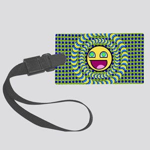 Rotating Rings Optical illusion  Large Luggage Tag