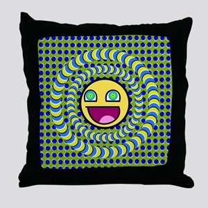 Rotating Rings Optical illusion  Throw Pillow