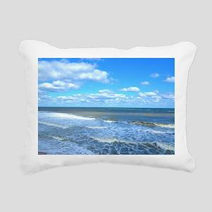 Seafoam waves Rectangular Canvas Pillow