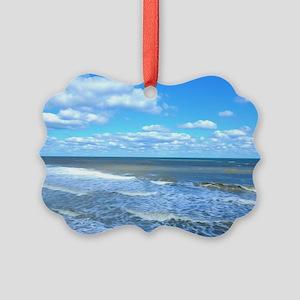 Seafoam waves Picture Ornament
