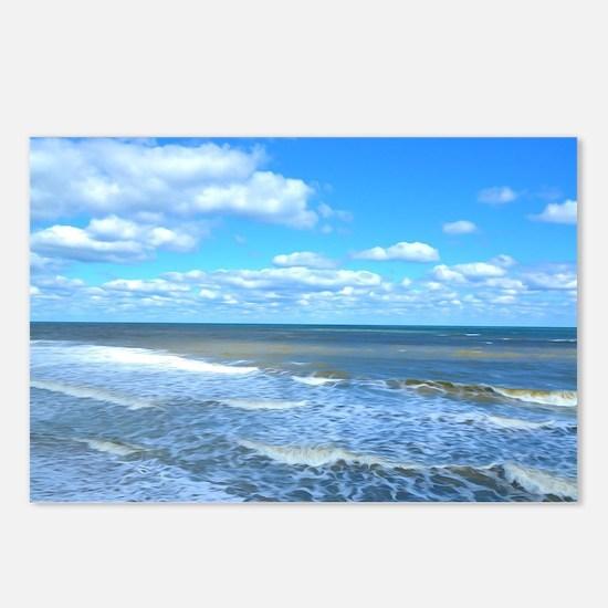 Seafoam waves Postcards (Package of 8)