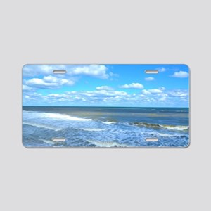 Seafoam waves Aluminum License Plate