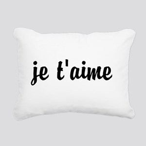 je t'aime I LOVE YOU in Rectangular Canvas Pillow